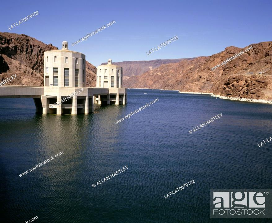 Hoover Dam,also known as Boulder Dam,is a concrete gravity-arch dam