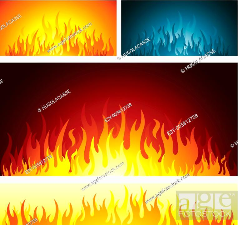 Stock Vector: Fire flames symbol.