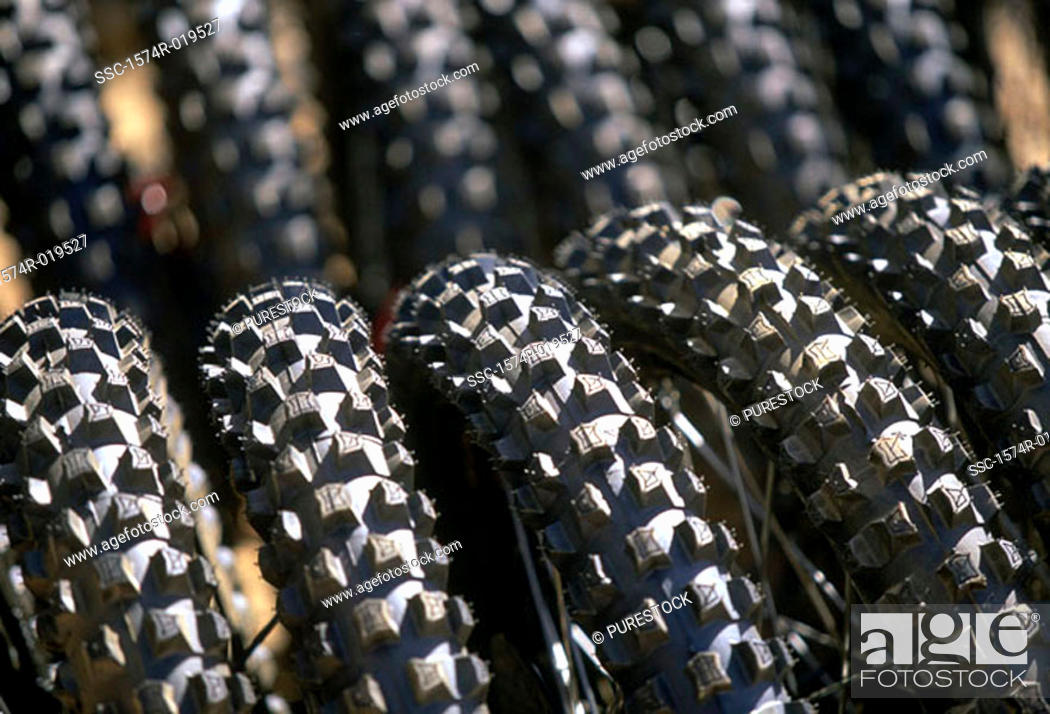 Stock Photo: Close-up of tires.