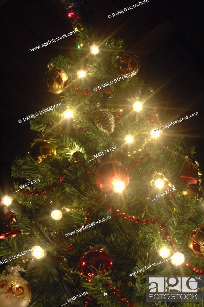 Stock Photo: albero di natale, ardesio, provincia di bergamo, lombardia, italia.