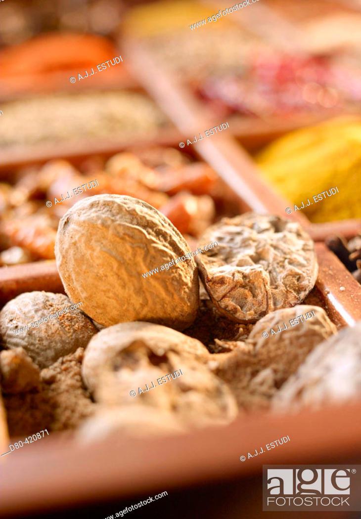 Stock Photo: Nutmeg.