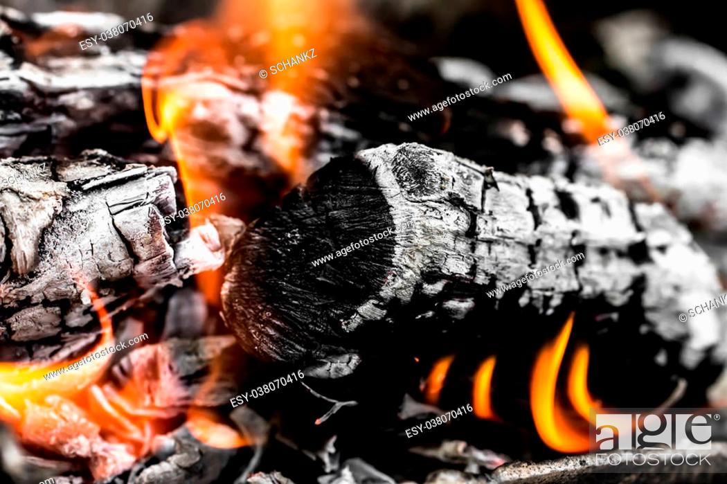 Stock Photo: abstract background of burning coals.