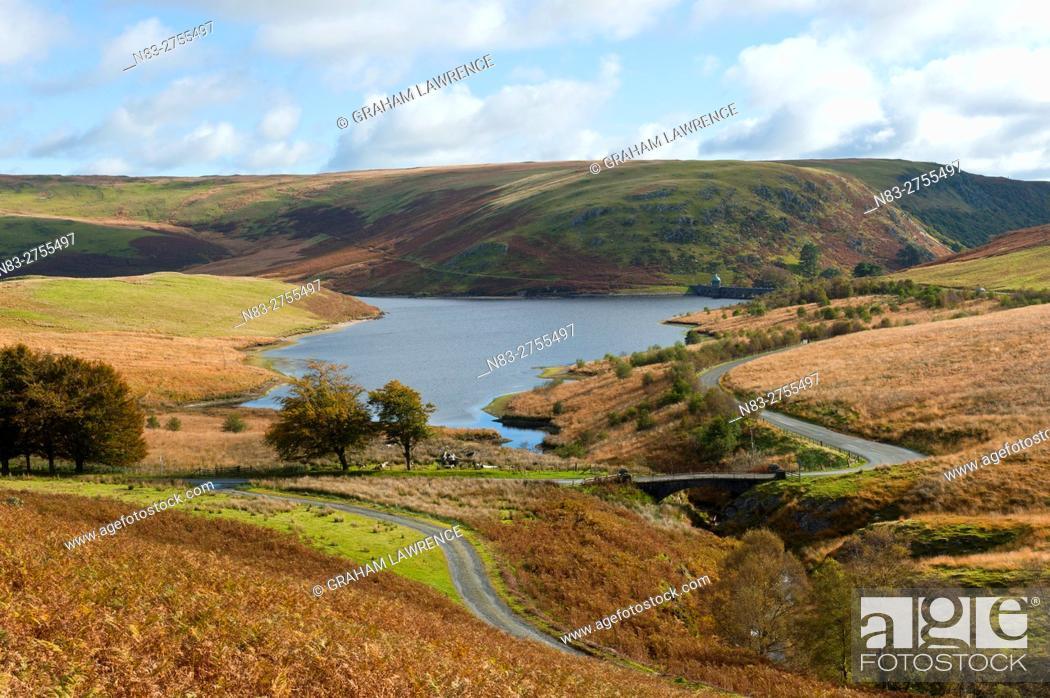 Stock Photo: An autumn view at Elan Valley, Powys, Wales, UK.
