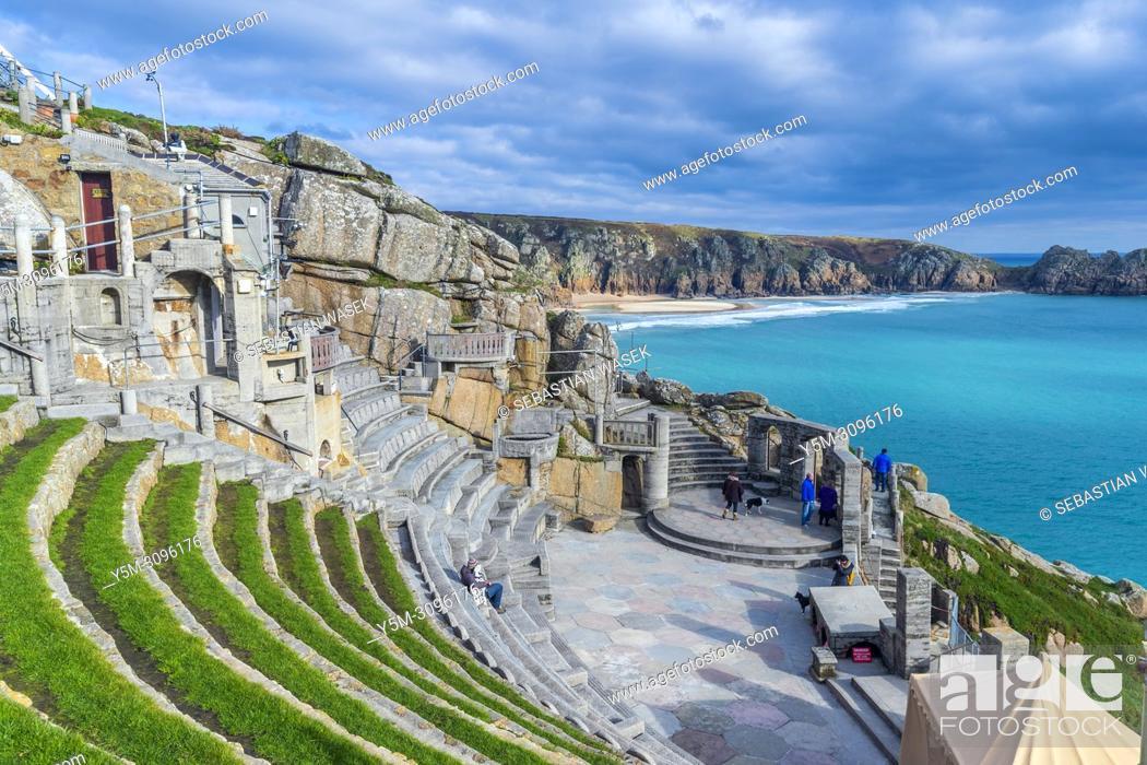 Stock Photo: Minack Theatre, Porthcurno, Cornwall, England, United Kingdom, Europe.