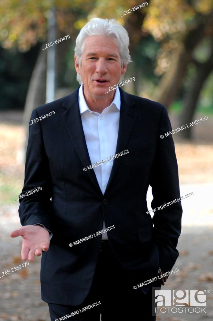 Stock Photo: Richard Gere; gere; actor; celebrities; 2015; rome; italy; event; photocall ; franny.