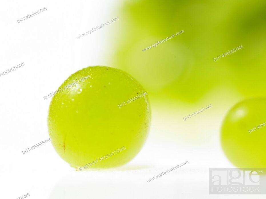Stock Photo: Various Green Grapes.