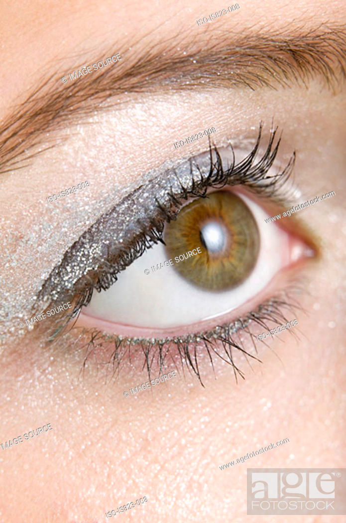 Stock Photo: Close-up of a womans eye.