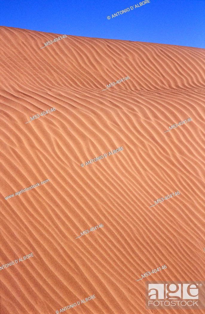 Stock Photo: Sand dune. Taklimakan desert. Xinjiang Uyghur Autonomous Region. China.