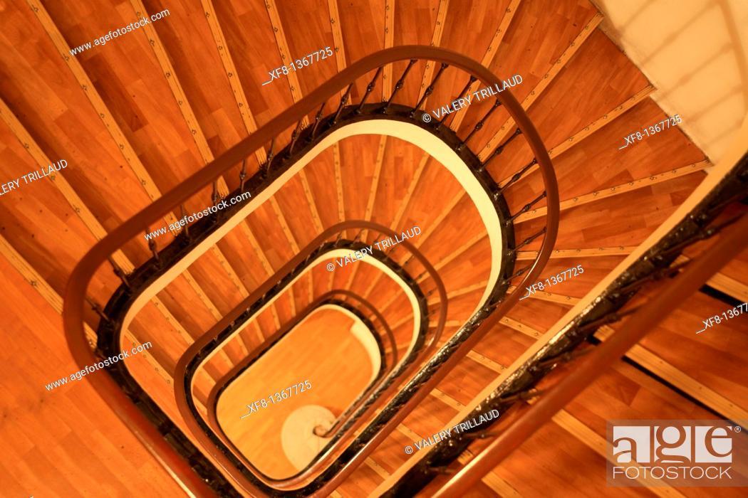 Stock Photo: Stairs, Marseille, Bouches du Rhone, Provence-Alpes-Côte d'Azur, France.