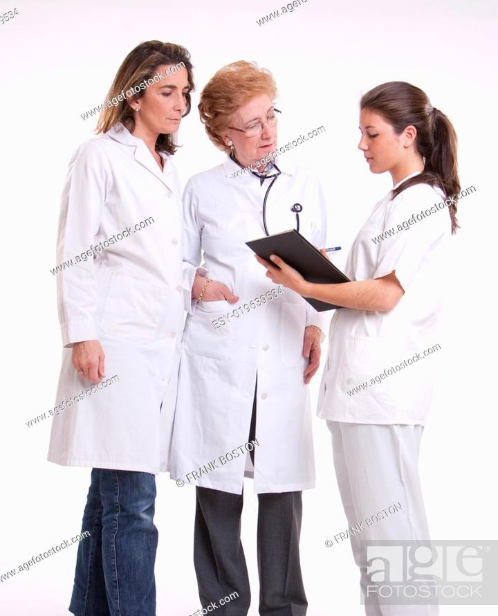Stock Photo: Working medical team.