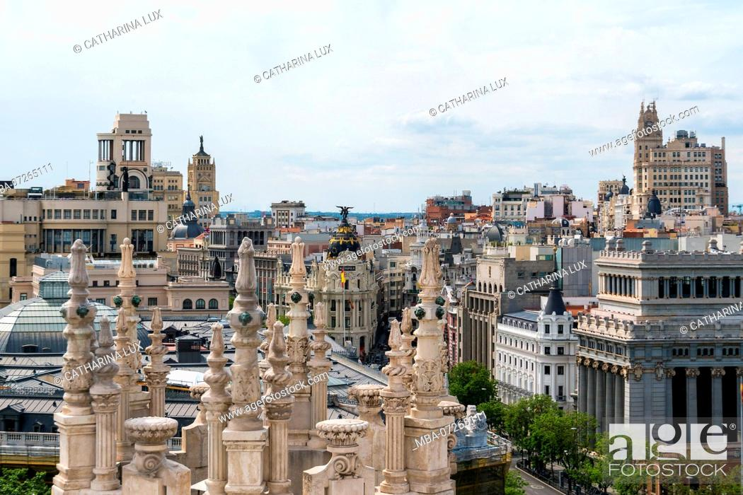 Madrid Palacio Cibeles View From The Tower To The West
