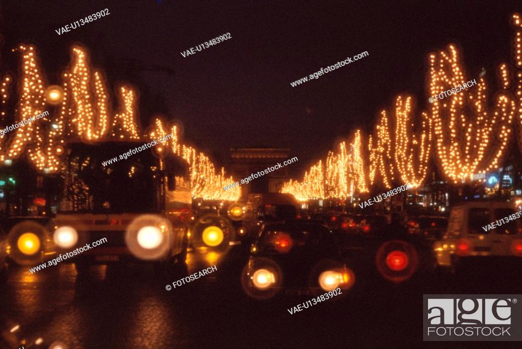 Stock Photo: Christmas Illuminations On Champs-Elysees.