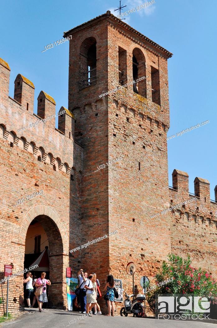 Stock Photo: Gradara (Pesaro-Urbino, Italy): the Castello (Castle).