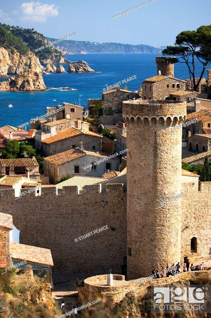 Stock Photo: Tossa del Mar in Catalonia, Spain.