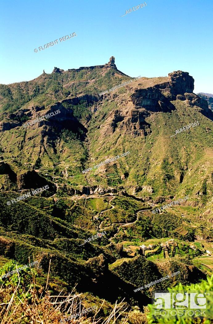 Stock Photo: Spain - Canary Islands - Great Canary - Roque Nueblo.