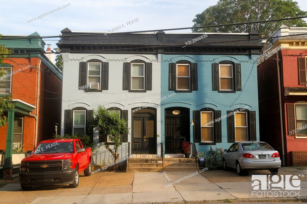 Stock Photo: Townhouses in Wilmington, Delaware, United States.