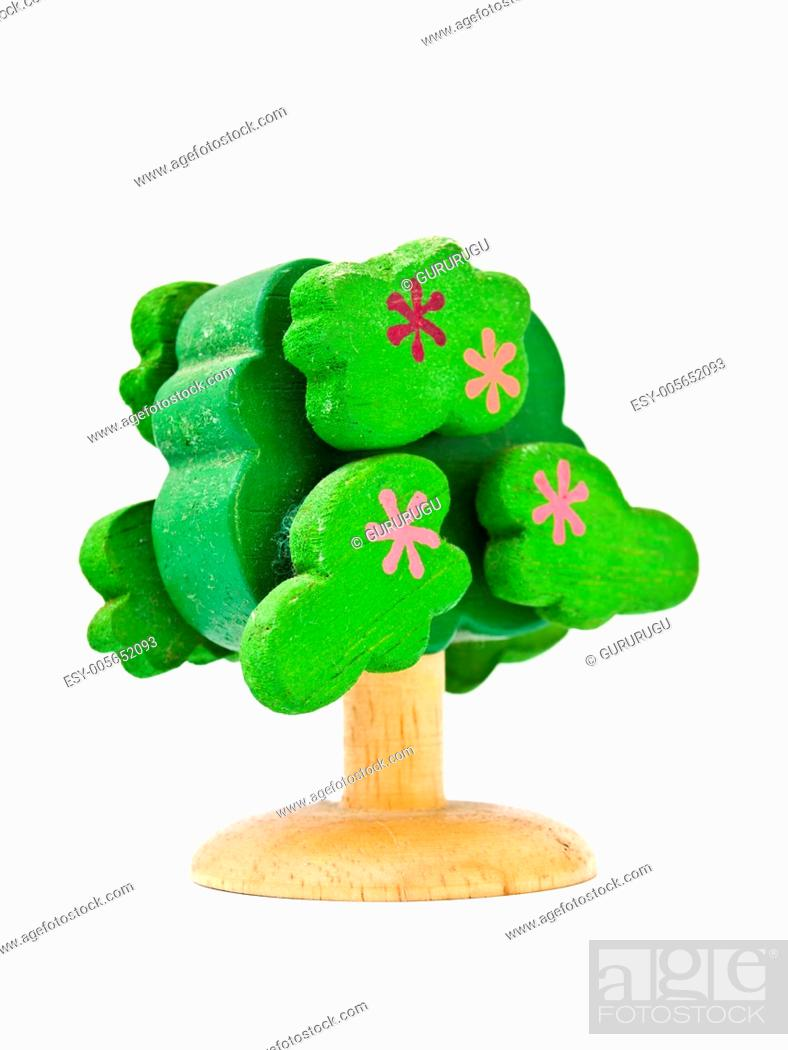Stock Photo: a handmade wooden toy.