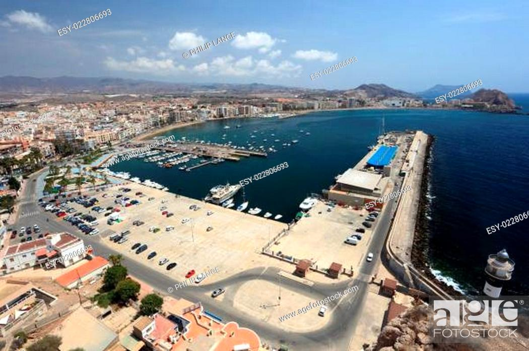 Stock Photo: Mediterranean town Aguilas, province of Murcia, Spain.