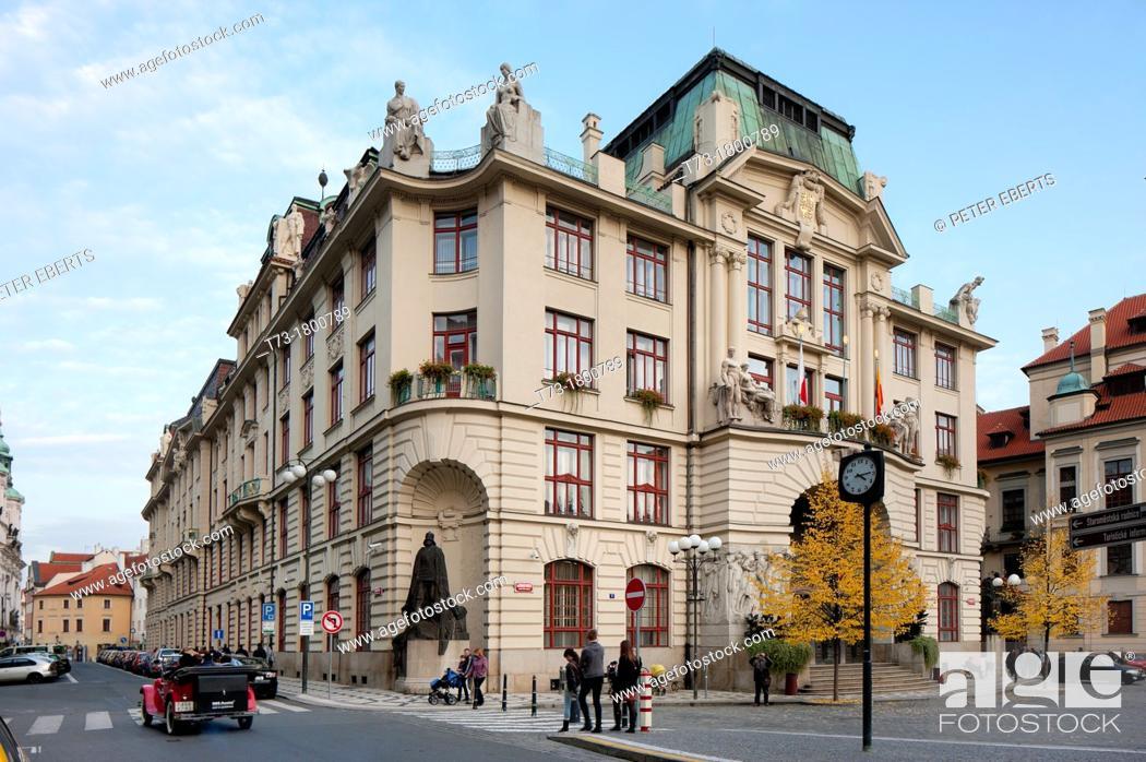 Stock Photo: administration building, Marien space, Prague, Czechia.