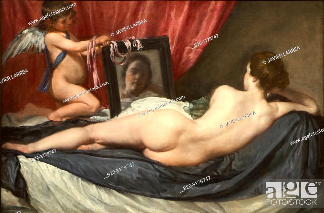 "Stock Photo: """"""The Toilet of Venus (The Rokeby Venus)"""", 1647-1651, Diego Velázquez, National Gallery, London, England, UK."
