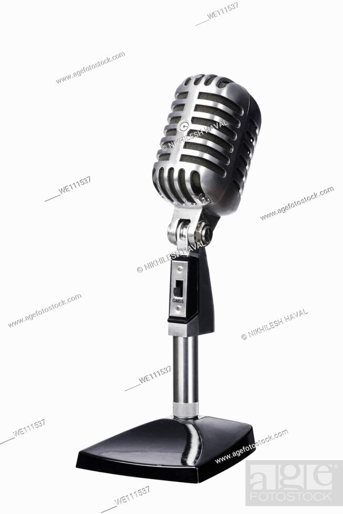 Stock Photo: Mic microphone wintage old.