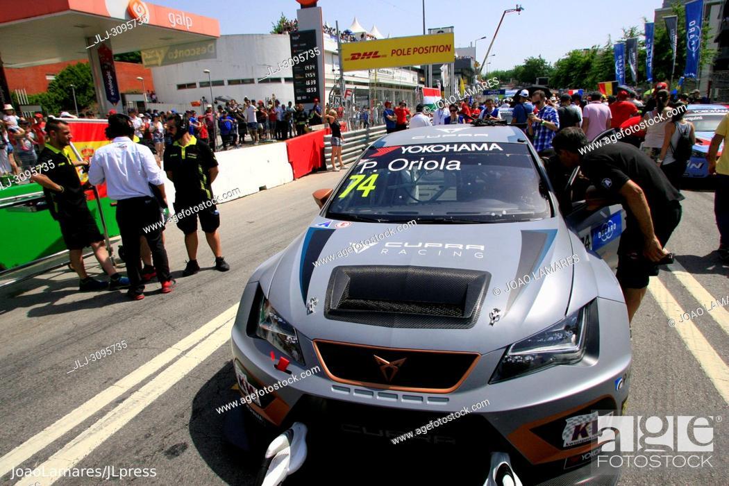 Stock Photo: P. Oriola, Cupra TCR #74, WTCR Race of Portugal, Vila Real 23-25 de June 2018.