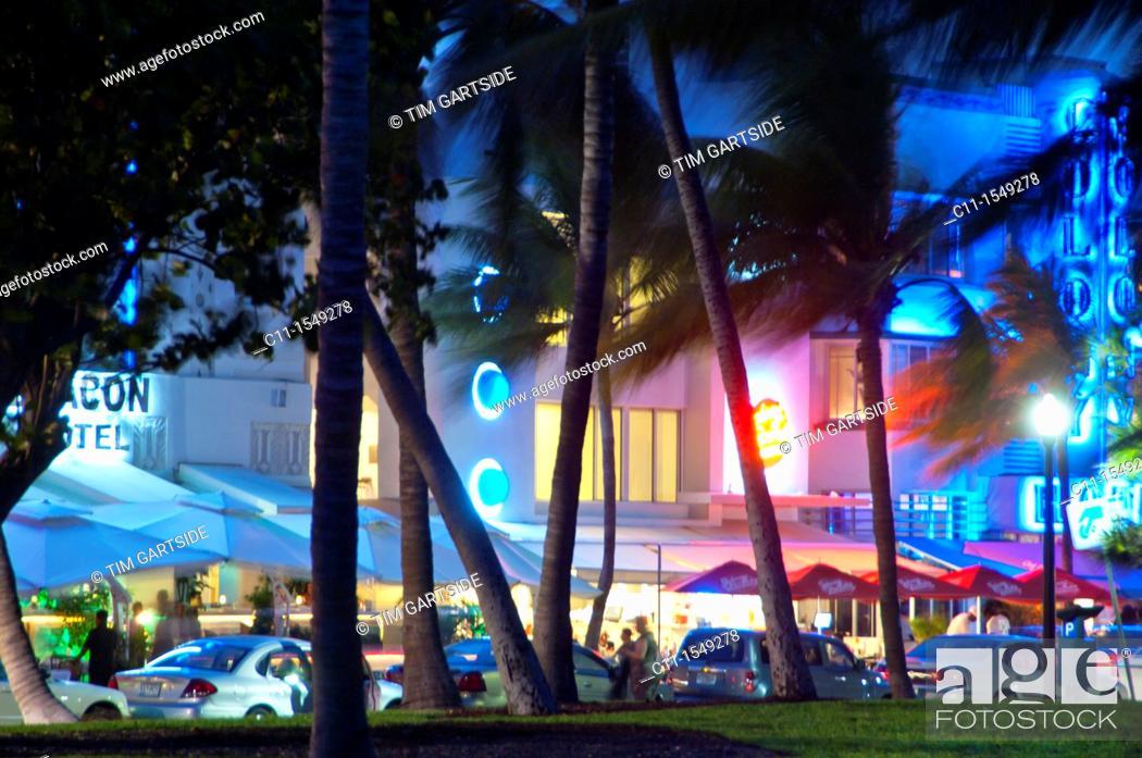 Stock Photo: park central Hotel, south beach Miami, Florida, USA.