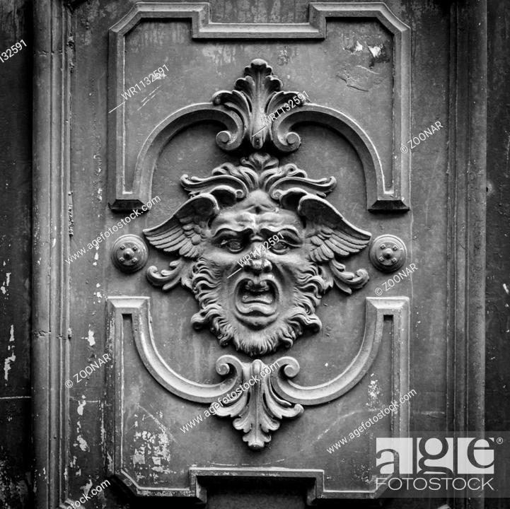 Stock Photo: Mysterious door.