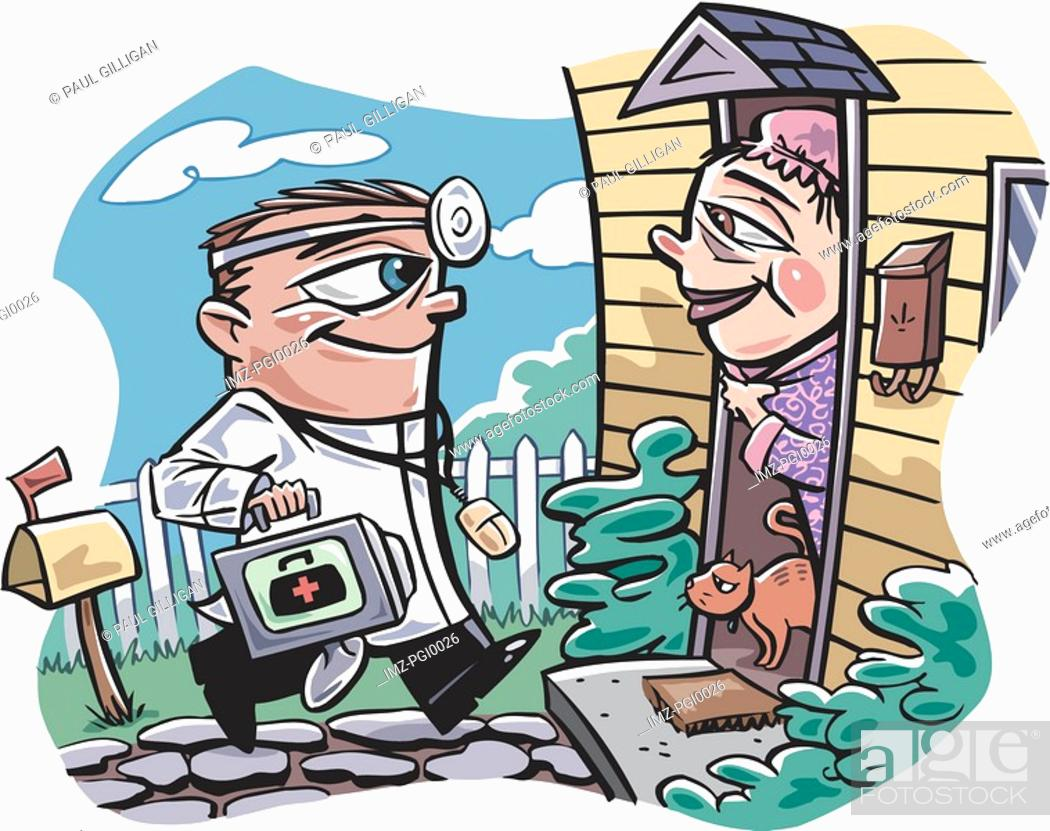 Stock Photo: Hi-tech doctor.