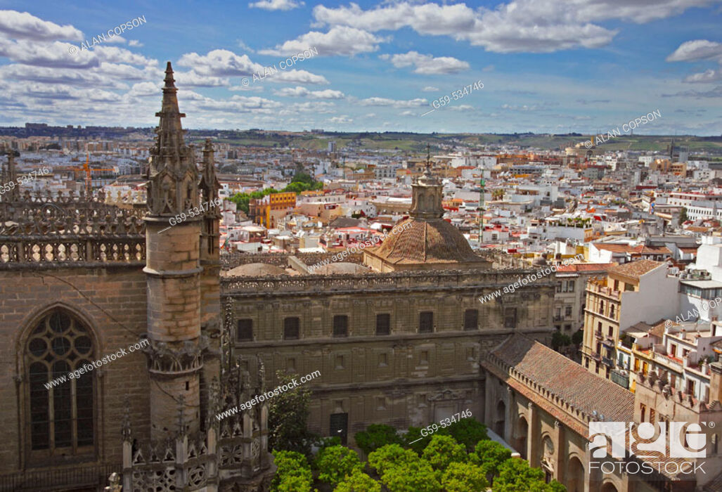Stock Photo: Spain, Andalusia, Seville, Cathedral.