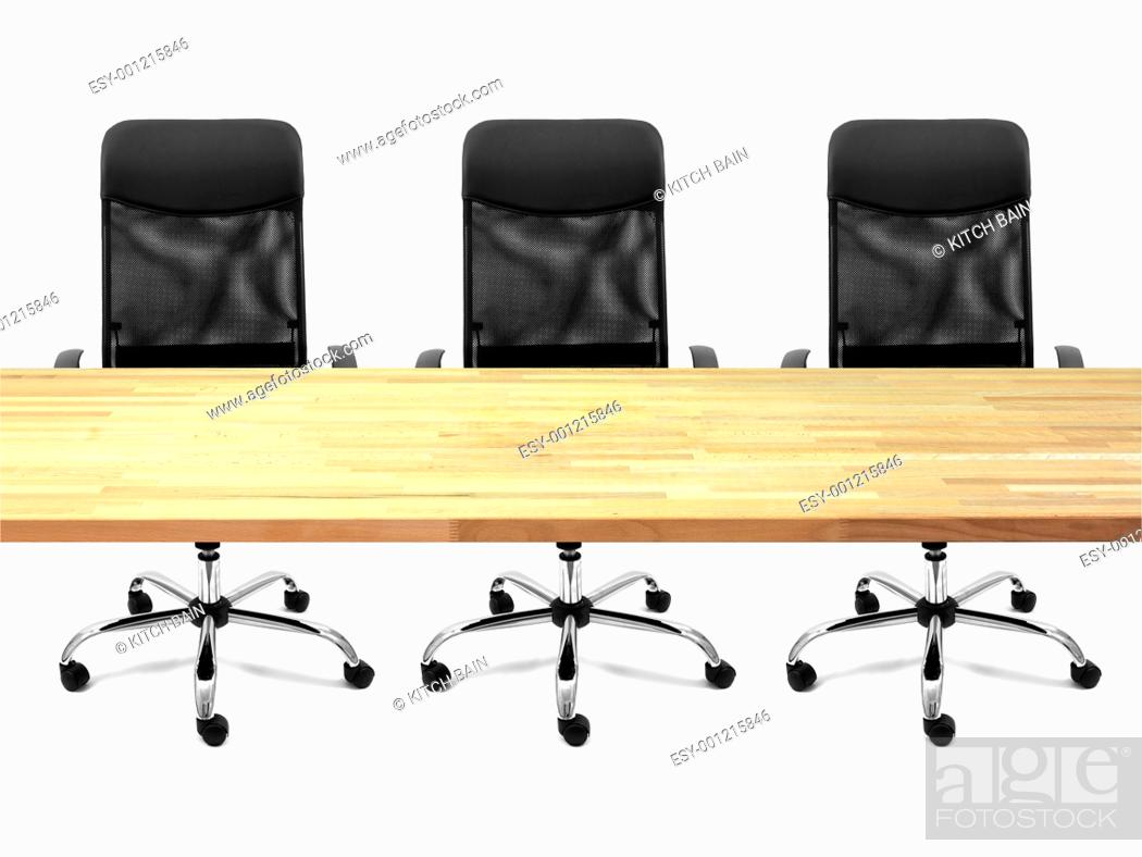 Stock Photo: A workplace scene isolated against a white background.