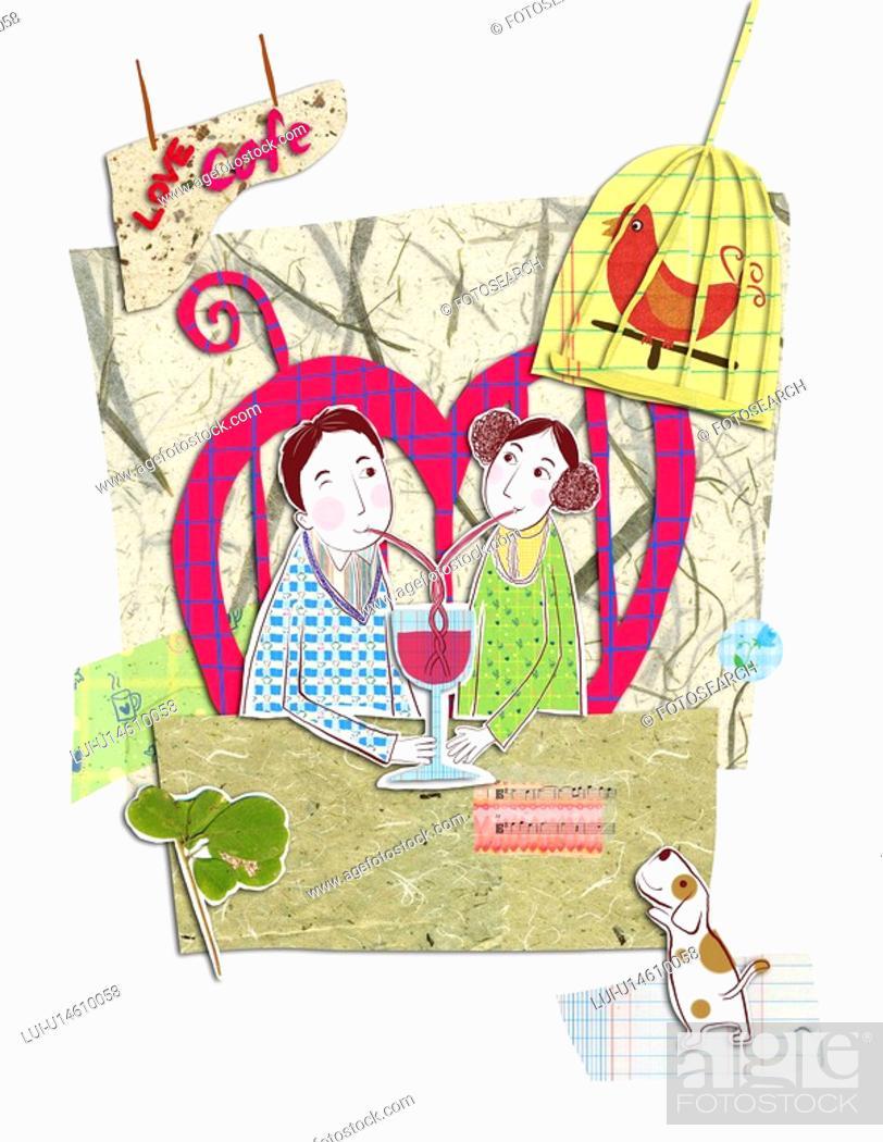Stock Photo: Beverage, cafe, Beverages, Restaurants, restaurant, Birdcage, Lovers.