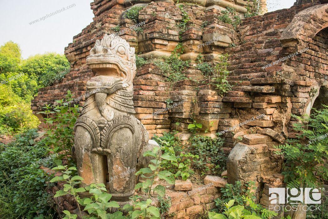 Stock Photo: At a pagoda complex near Mandalay, Myanmar.