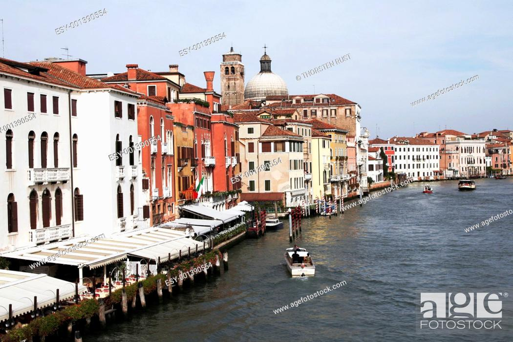 Stock Photo: Venice, Italy - Water Front Facade.