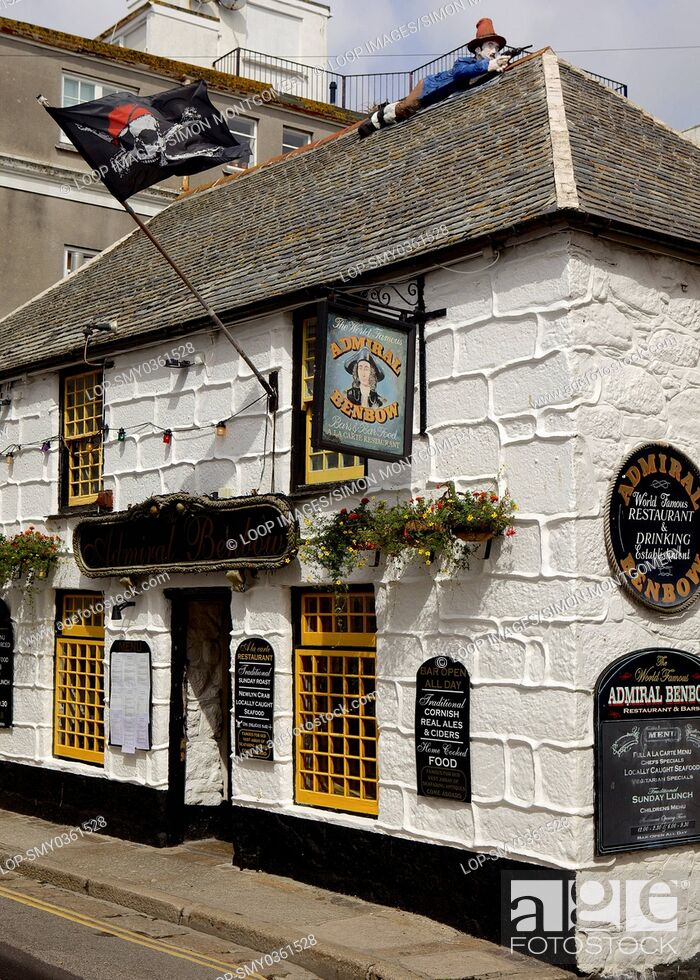 Stock Photo: The Admiral Benbow pub in Penzance.