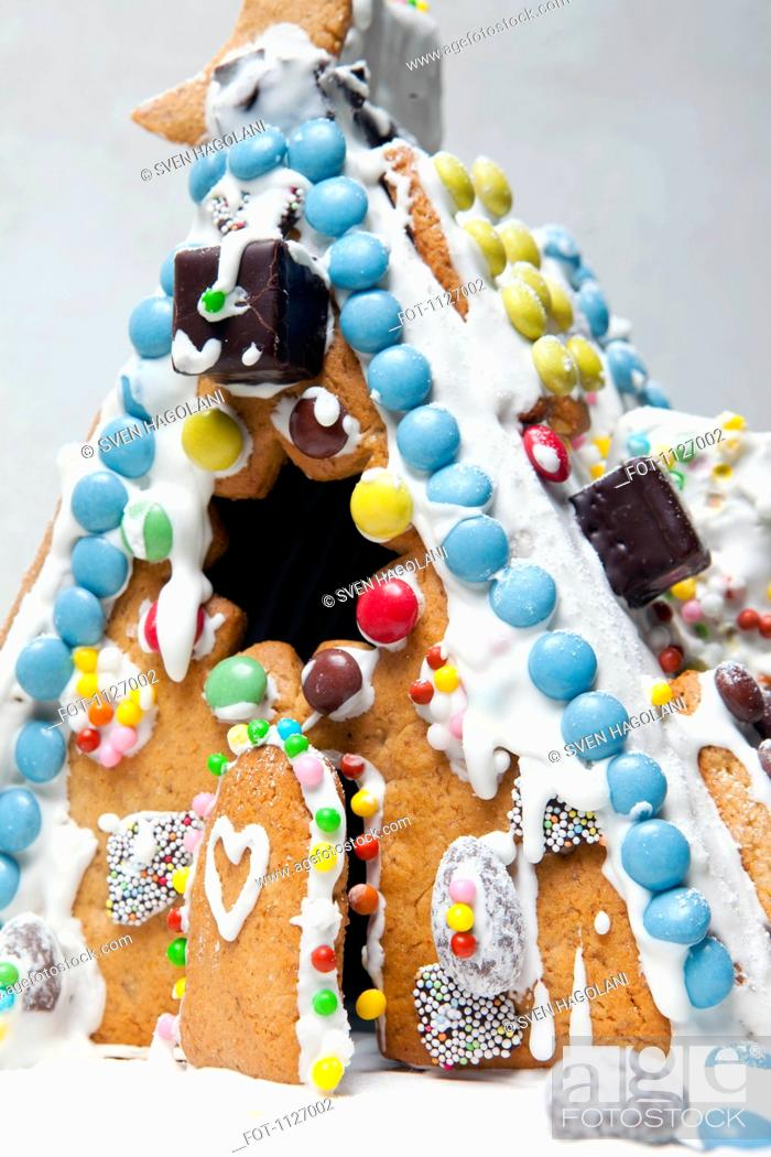 Stock Photo: Gingerbread House.