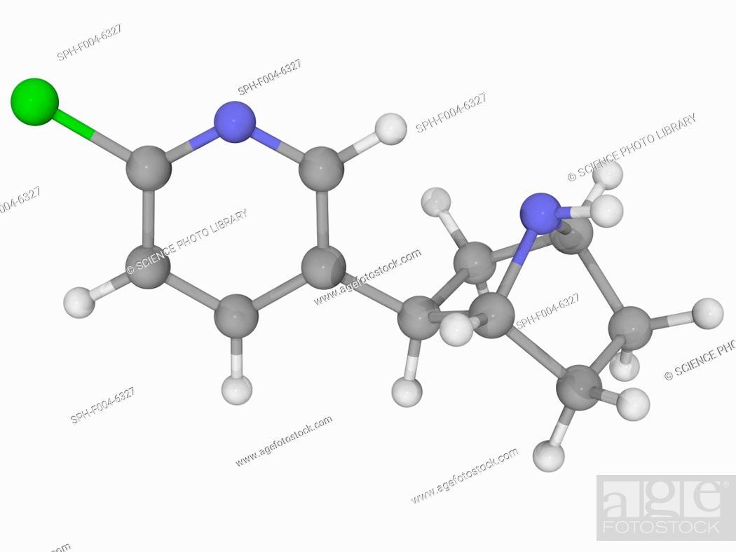 Epibatidine Molecular Model Poisonous Alkaloid Found On The Skin