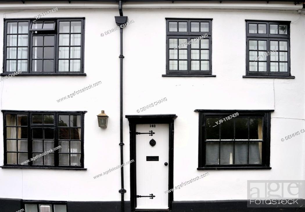 White walls and black window frames on Fishpool Street, St Albans ...