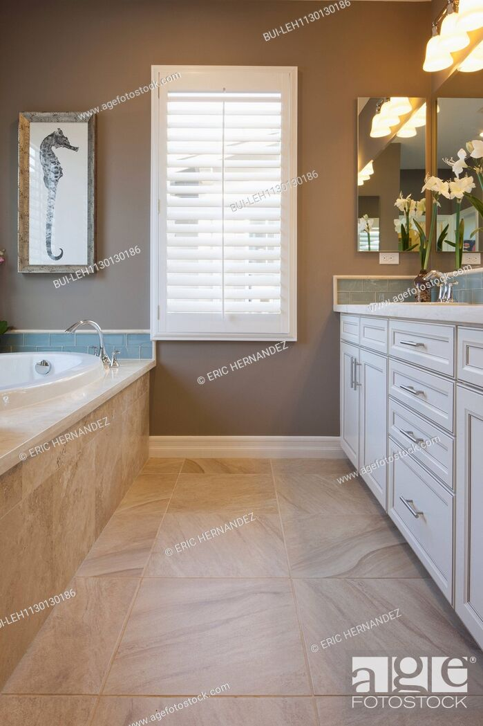 Imagen: Interior in domestic bathroom.