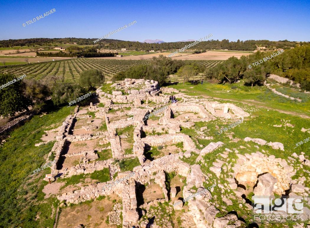 Stock Photo: Son Fornés, archaeological site of prehistoric era, built in the Talayotic period, 10th century BC, Montuiri, Mallorca island, Balearic Islands, Spain.