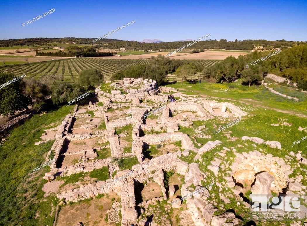 Stock Photo: Son Fornés, archaeological site of prehistoric era, built in the Talayotic period, 10th century BC, Montuiri, Mallorca island, Balearic Islands, Spain.