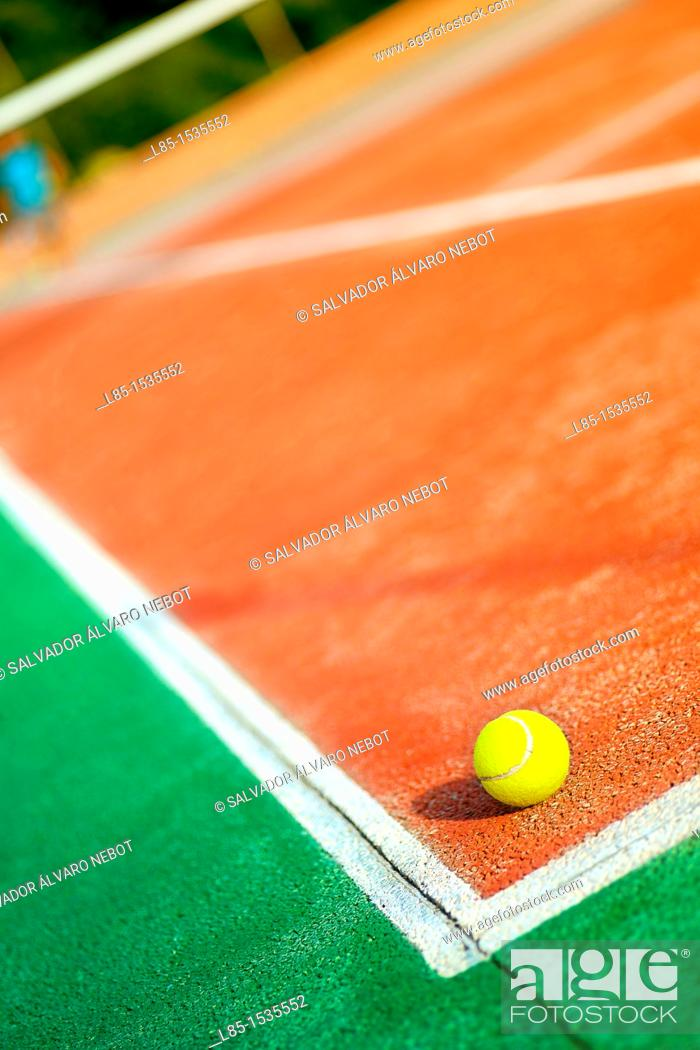 Stock Photo: Sunset Tennis Court.