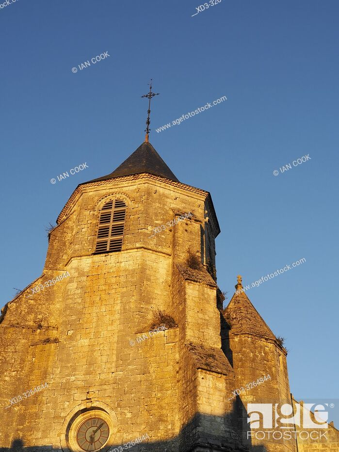 Stock Photo: Saint Felicien Church, Issigeac, Dordogne Department, Nouvelle Aquitaine, France.