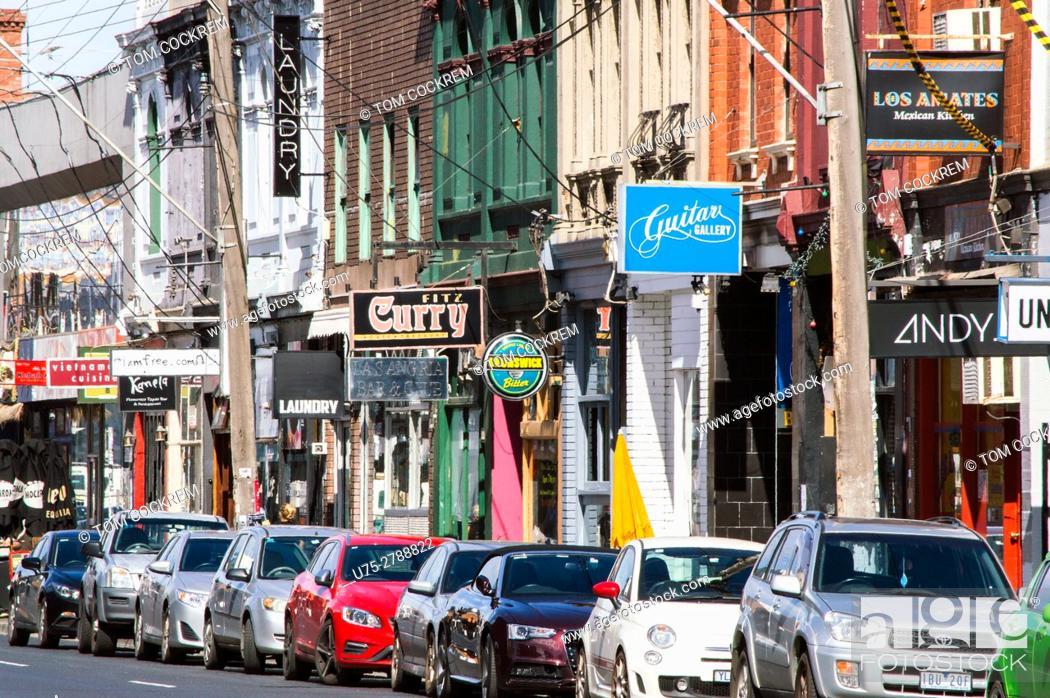 Stock Photo: Elgin Street, Fitzroy, Melbourne, Victoria, Australia.