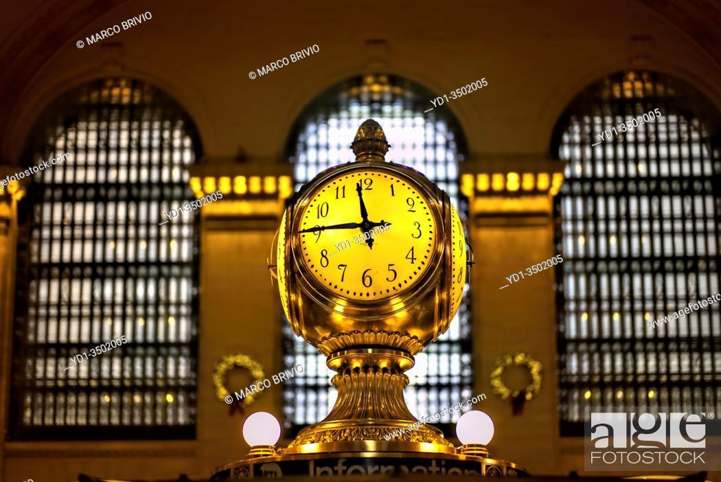 Stock Photo: New York. Manhattan. Grand Terminal Central Station.