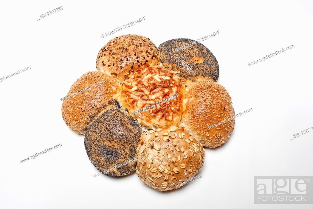 Stock Photo: Rolls in the shape of a flower, baker flower.