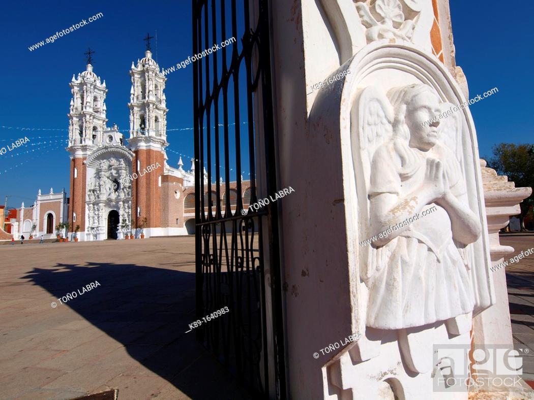 Stock Photo: Ocotlan church  Tlaxcala  Mexico.