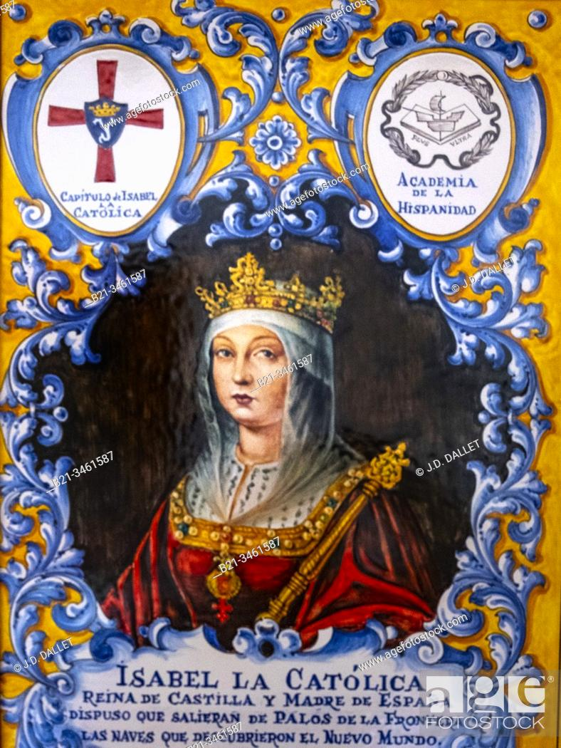 Stock Photo: Spain, Isabella I of Castile (Spanish: Isabel, 22 April 1451 – 26 November 1504) reigned as Queen of Castile from 1474 until her death.