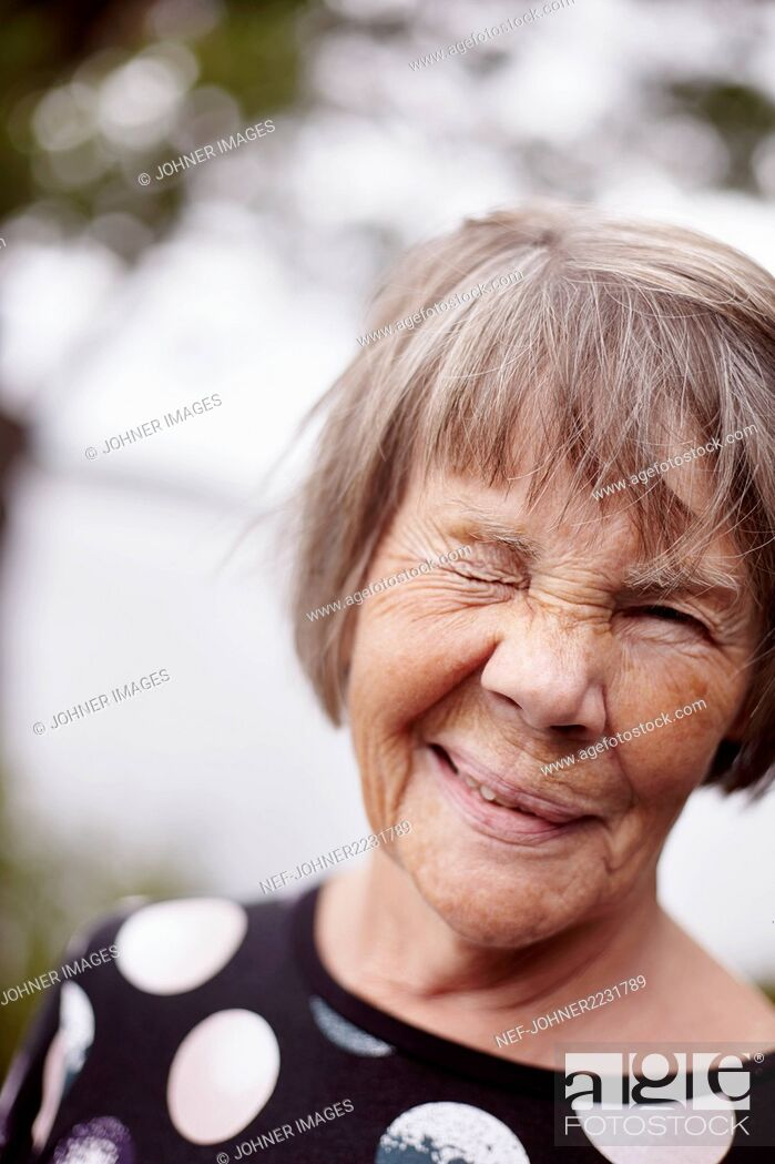 Stock Photo: Portrait of senior woman.
