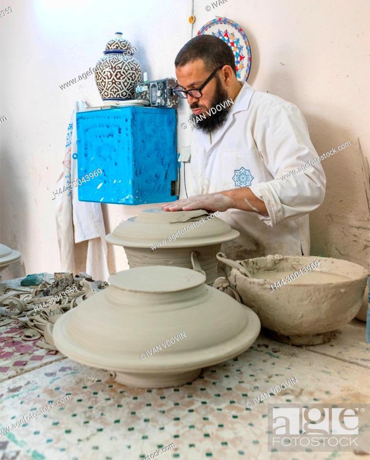 Stock Photo: Pottery facory, Fes, Morocco.
